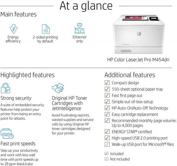 HP Color LJ Pro M454DN  - 4